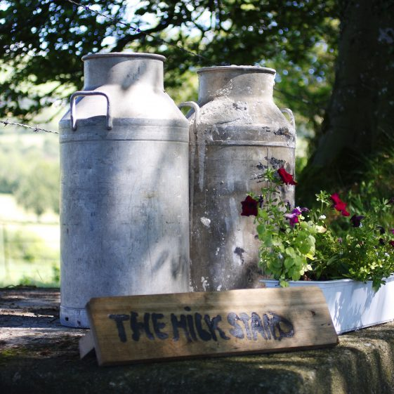 Two milk churns   The Pure Mile