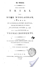Account of Hugh Woolaghan's trial, published 1798