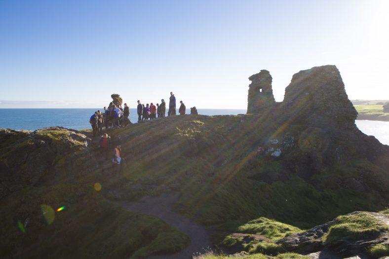 Prof. Graeme Warren leads a schoolgroup around the Black Castle | Michael Kelly