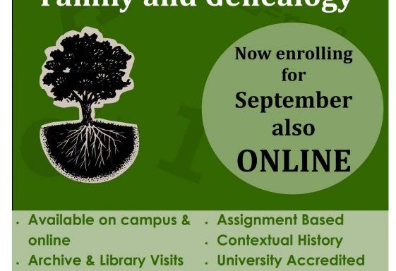 Certificate in History of Family & Genealogy
