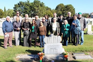 The gathering on 17th Nov 2016 at Mick McDonnell's grave | Tony Becker