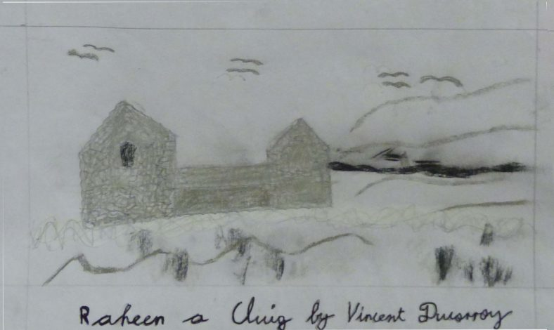 Raheen a Cluig: Uncovering Bray's Forgotten Monastic Grange Exhibition. Drawings by 4th Class Pupils of St. Cronin's School | Vincent Duisrroy