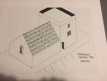 Isometric Drawing No. 2 Raheen a Cluig Church c1400 AD | The Medieval Bray Project