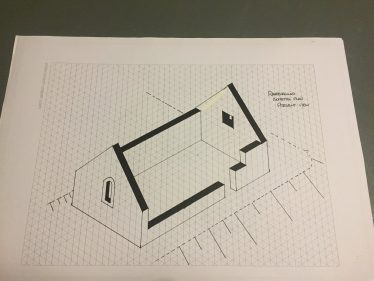 Isometric Drawing of Raheen a Cluig church | The Medieval Bray Project