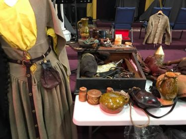 Medieval Display at Medieval Bray Project Seminar 2018 | Dave Swift - Living History and Archaeology Group - Claiomh