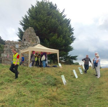 Fig 1: Setting the Scene at Raheen-a-Cluig 2017 | The Medieval Bray Project