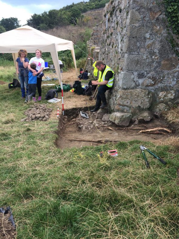 Side Trench at Raheen a Cluig | Medieval Bray Project