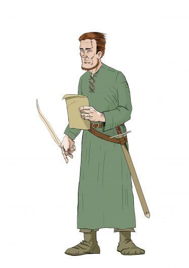 Artist's impression of Walter de Ridelesford II | Danny McMonagle