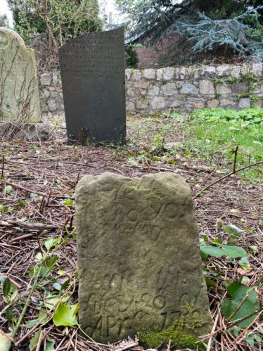 One of the oldest gravestones in the graveyard. | The Medieval Bray Project.