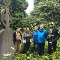 Volunteers at Work. Gill, Mary, Terese, Roger and Conor | The Medieval Bray Project
