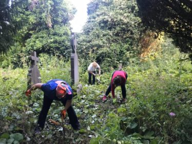 Now where is that Church. Volunteers working clearance. | The Medieval Bray Project