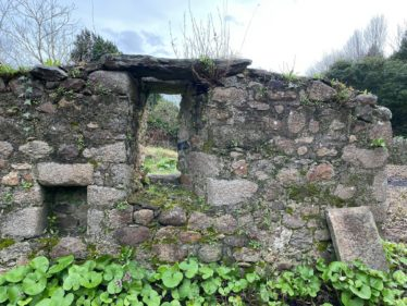 Inside South Wall of Medieval Church at Old Conna | The Medieval Bray Project