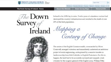 Down Survey Website Home Page | Trinity College Dublin