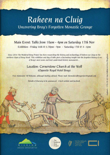 Poster for Raheen a Cluig: Uncovering Bray's Forgotten Monastic Grange | The Medieval Bray Project