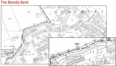 The Bloody Bank site at the Upper Dargle Road, Bray | OSI Maps