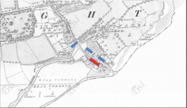 Sites of the Battle at Upper Dargle Road, Bray.  | OSI Map
