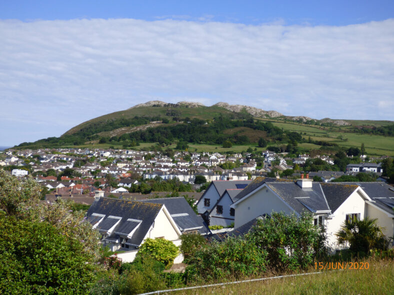 View of Bray Head from Loretto Convent.  Fig 8. | The Medieval Bray Project