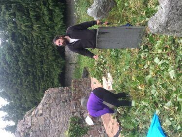 Luke and Una the Medieval Bray Project volunteers at Old Conna/Connaught | The Medieval Bray Project
