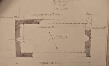 Plan of Raheen-a-cluig by H G Leask 1925 | Original Drawing: H. G. Leask,  Photo: Medieval Bray Project
