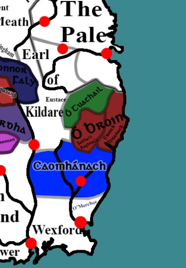 Map of Leinster c. 1500