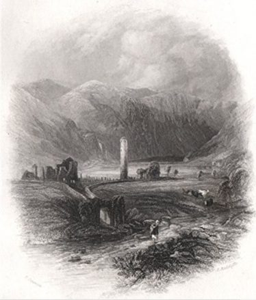 Glendalough Etching 1835 | Courtesy of the National Library of Ireland