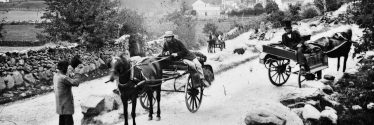 Jarveys awaiting tourists - Glendalough c.1890 | Courtesy of the National Library of Ireland