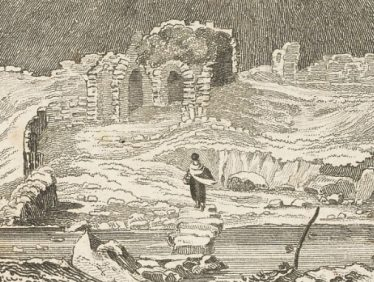 Etching by Read of the Entranceway with Stepping Stones | Courtesy of the National Library of Ireland