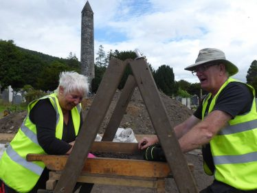 Sieving during excavations at Glendalough | UCD