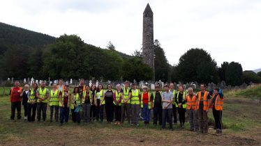 Students and Volunteers during Excavations | UCD