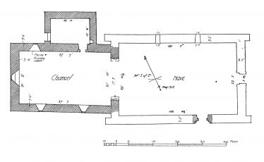 2. Cochrane's plan of the cathedral. | Courtesy of Con Manning & Wordwell Publishing