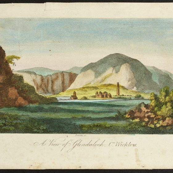 A View of Glendalough Co. Wicklow by Brocas | Courtesy of the National Library of Ireland