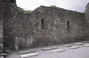 11. An interior view of the south wall of the nave, showing the two windows (J. Scarry).   Courtesy of Con Manning & Wordwell Publishing