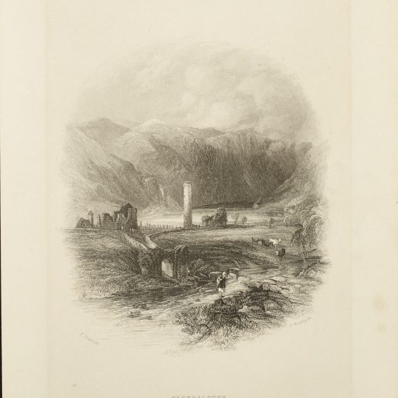 Glendalough by Creswick and Radclyffe | Courtesy of the National Library of Ireland