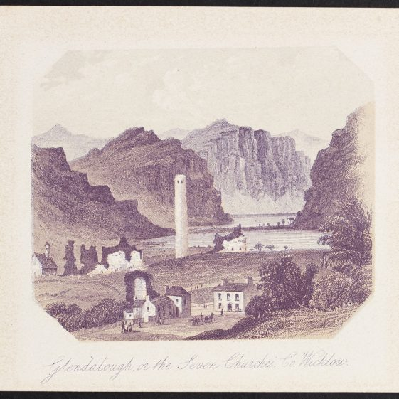 Glendalough or the Seven Churches, Co. Wicklow | Courtesy of the National Library of Ireland