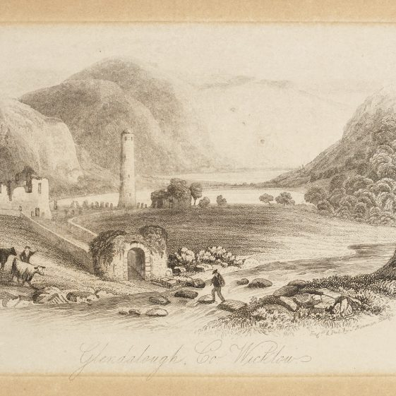 Glendalough engraved by J. Numan & Co 1844 | Courtesy of the National Library of Ireland