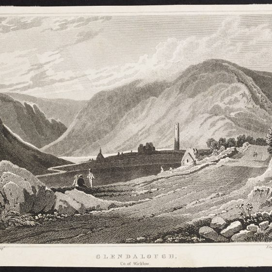 Glendalough by George Petrie | Courtesy of the National Library of Ireland