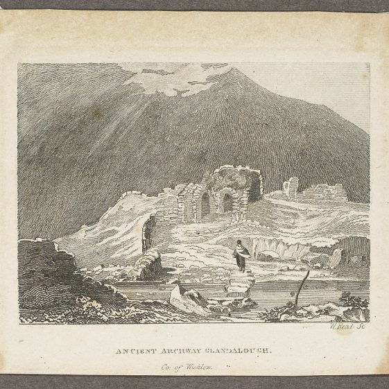 Ancient Archway Glandalough by Petrie, engr. by W. Read | Courtesy of the National Library of Ireland