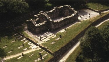 Aerial view of Reefert Church and graveyard | Courtesy of Con Manning, Archaeology Ireland and Wordwell Publishing
