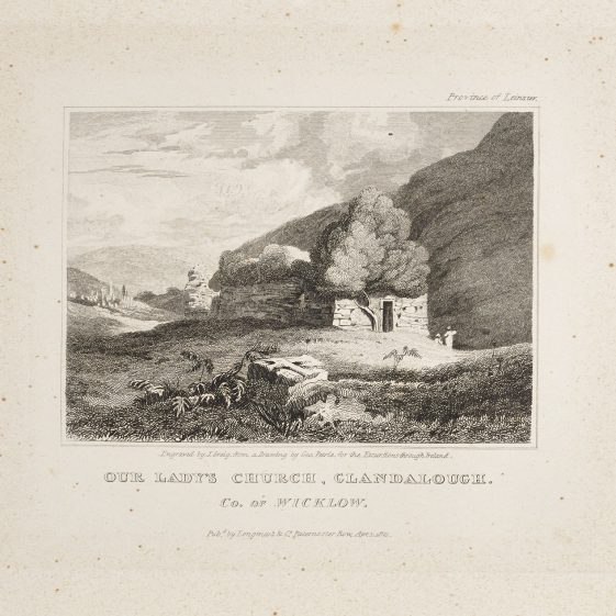 Our Lady's Church, Glandalough by George Petrie | Courtesy of the National Library of Ireland