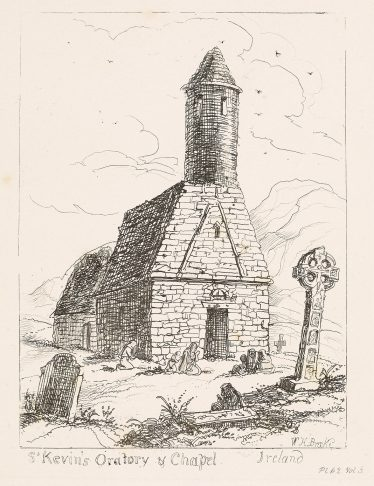 St. Kevin's Oratory by William Henry Brook | Courtesy of the National Library of Ireland