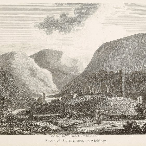 Ruins of Glendalough by Luttrell Wynne | Courtesy of the National Library of Ireland