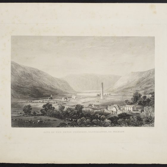 Site of the Seven Churches by Henry Adlard | Courtesy of the National Library of Ireland