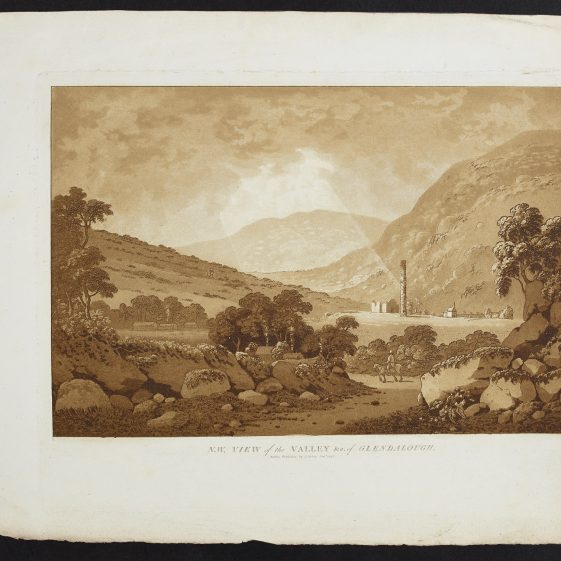 Valley of Glendalough by Jonathan Fisher | Courtesy of the National Library of Ireland