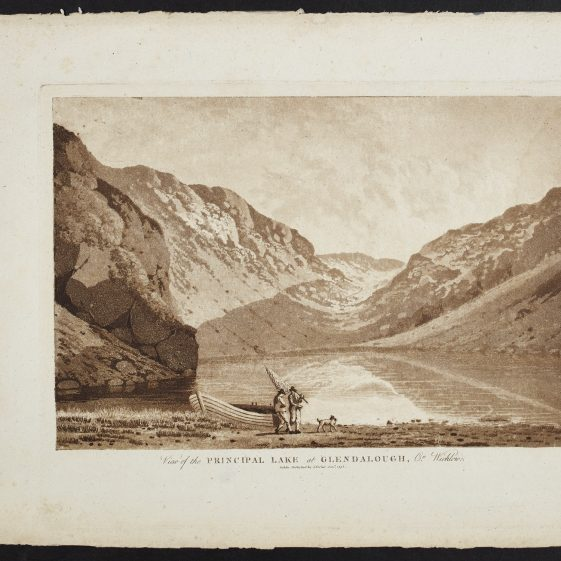 View of the Principle Lake at Glendalough by Jonathan Fisher | Courtesy of the National Library of Ireland