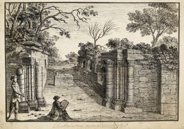 Monastery near Glendalough by Angelo Maria Bigari 1779 | Courtesy of the National Library of Ireland