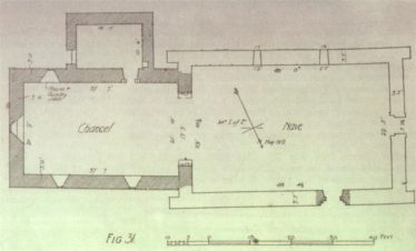 Plan of the Cathedral (after Cochrane) | Courtesy of Con Manning, Archaeology Ireland and Wordwell Publishing