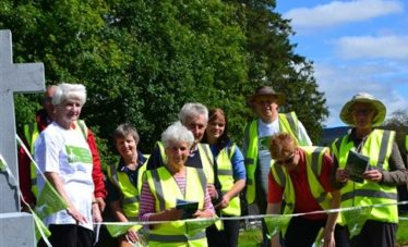Graveyard Survey Volunteers in Glendalough | Courtesy of the Heritage Council