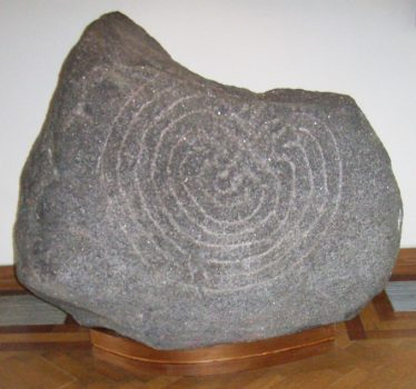 Image of Labyrinth/Hollywood Stone in OPW Visitor Centre Glendalough | Courtesy of Louise Nugent
