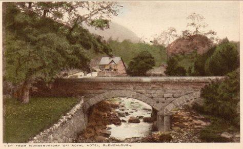 Glendalough Bridge from Royal Hotel. Courtesy of author.