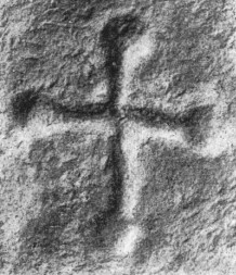 The cross incribed on a boulder beside the Hollywood stone (after Bremer, 1926, 52, Fig.2). | Courtesy of Louise Nugent